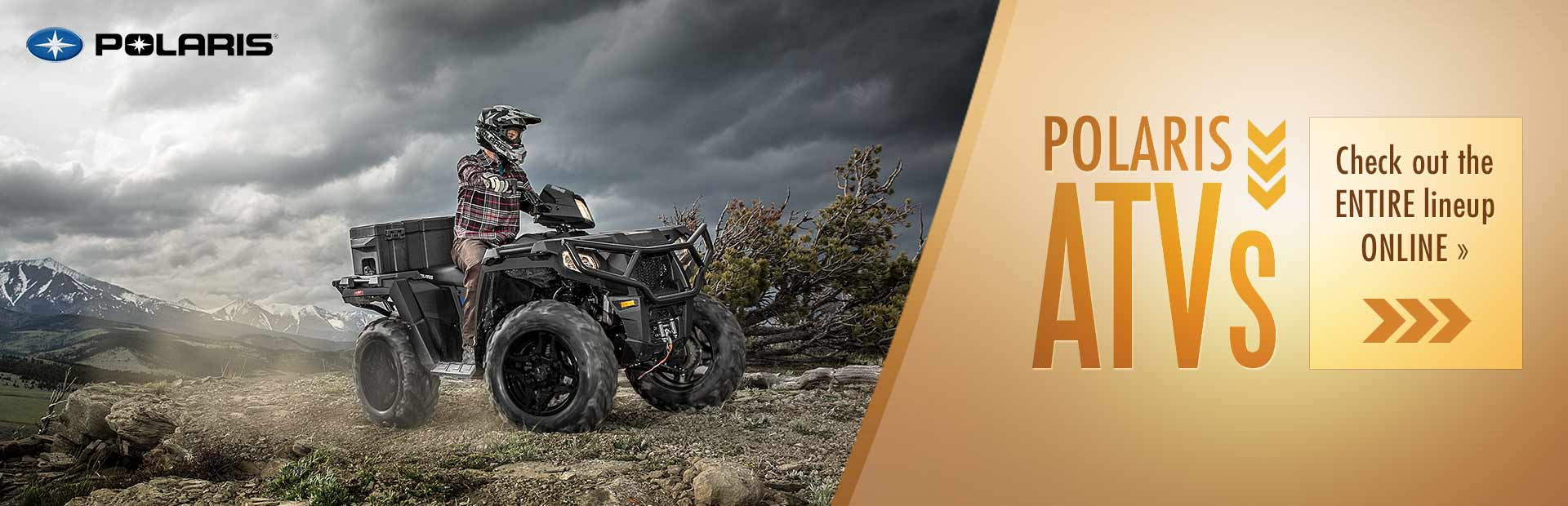 Polaris ATVs: Click here to check out the entire lineup online.