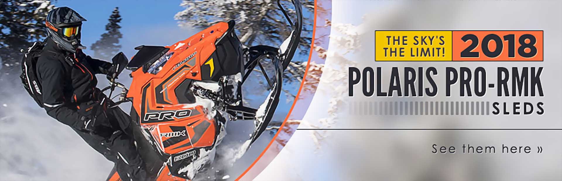 2018 Polaris PRO-RMK Sleds: Click here to view the models.