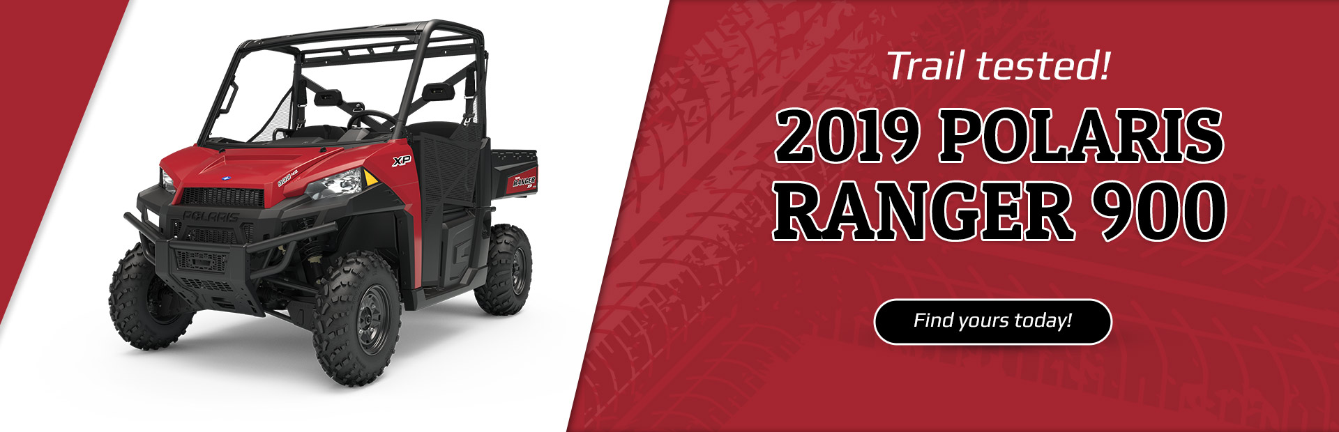 Trail tested! 2019 Polaris Ranger 900. Click here to find yours today!