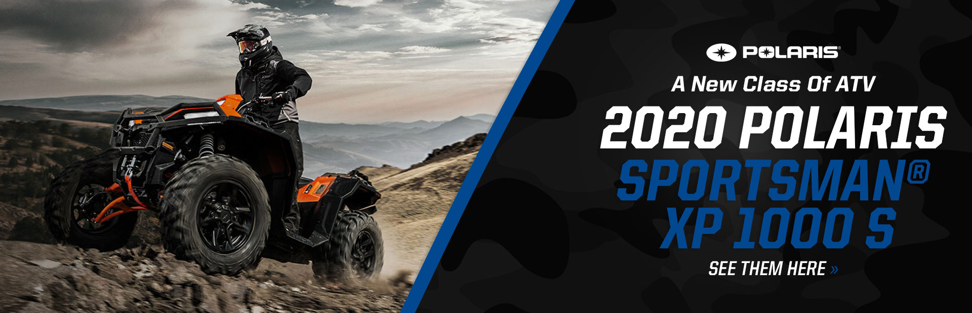 See our 2020 Polaris Sportsman® XP 1000 S inventory now. Click here!