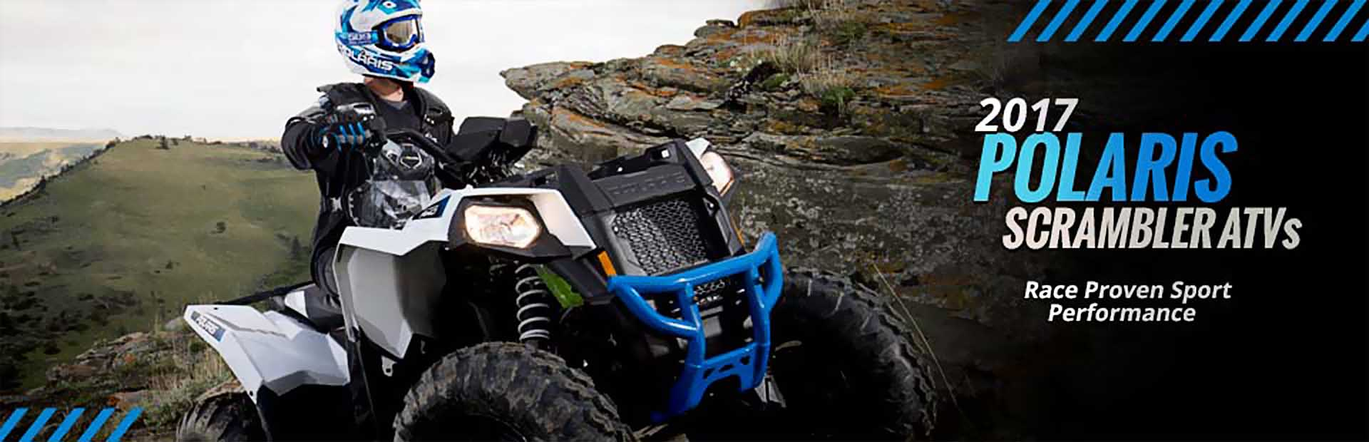 2017 Polaris Scrambler ATVs: Click here to view the models.