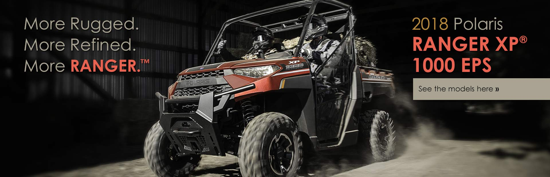 2018 Polaris RANGER XP® 1000 EPS: Click here to view the models.
