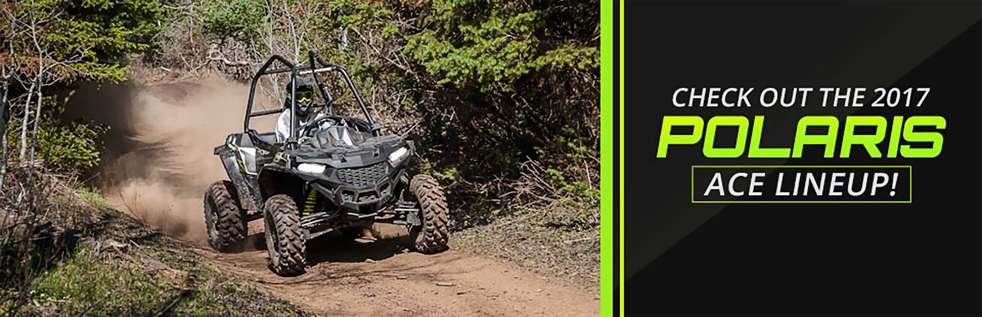 2017 Polaris ACE Lineup: Click here to see the selection.
