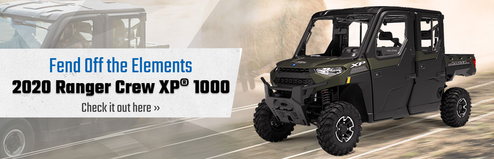 2020 Ranger Crew XP® 1000 inventory. Click here to find out more!