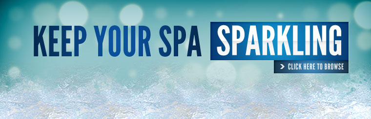 Keep your spa sparkling! Click here to browse pool chemicals.
