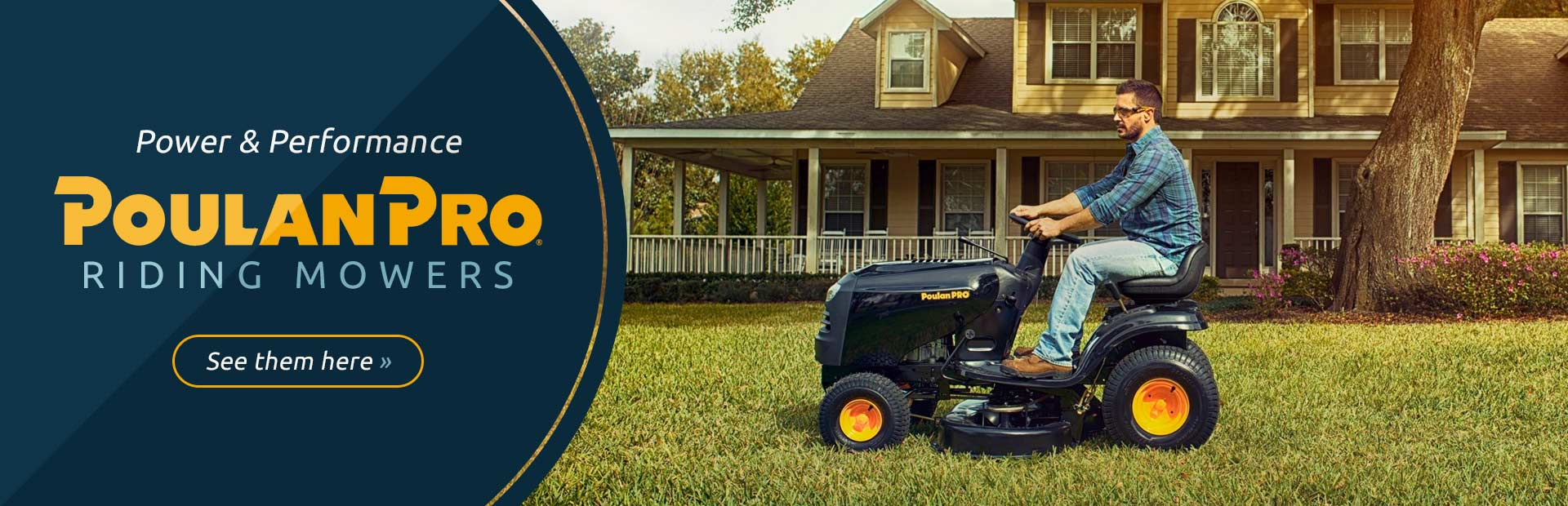 Poulan Pro Riding Mowers: Click here to view the models.