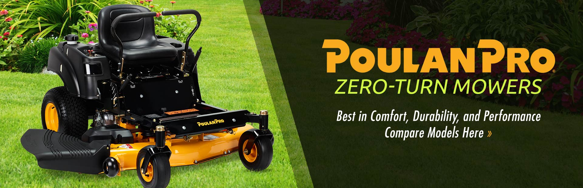 Poulan Pro Zero-Turn Mowers: Click here to view the models.