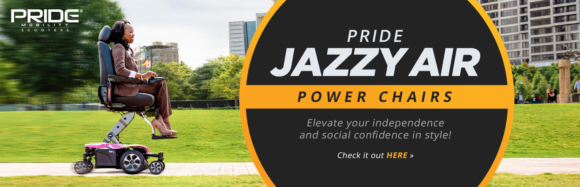 Pride Jazzy Air Power Chairs: Elevate your independence and social confidence in style! Click here t