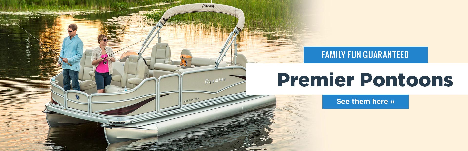 Family fun is guaranteed with Premier pontoons! Click here to see our selection.