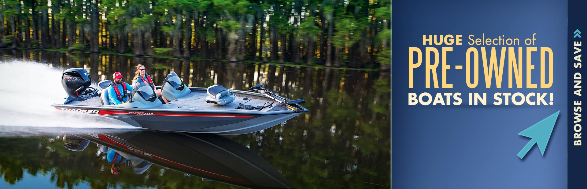 Click here to check out our huge selection of in-stock pre-owned boats!