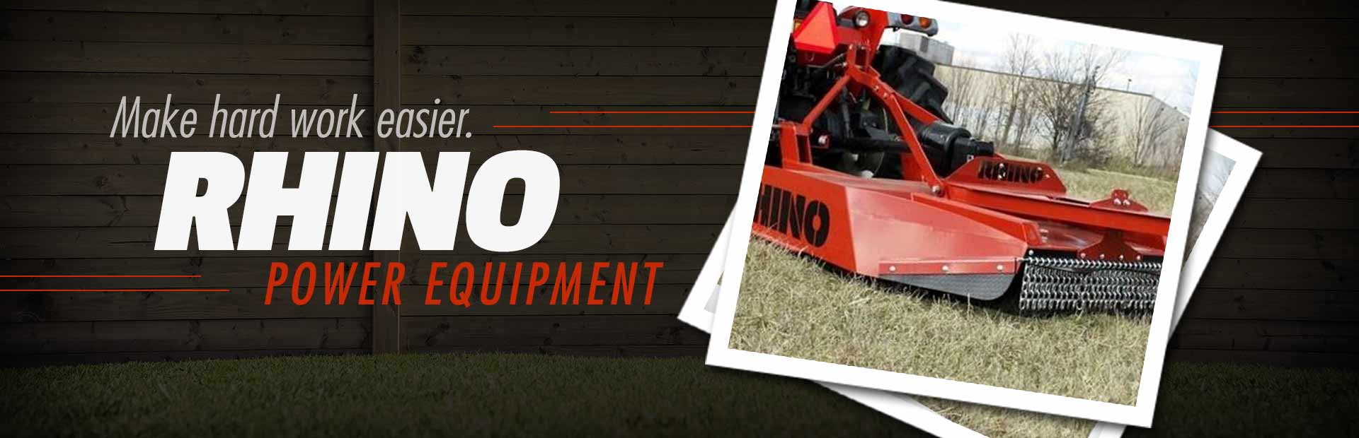 Rhino Power Equipment: Click here to view the models.