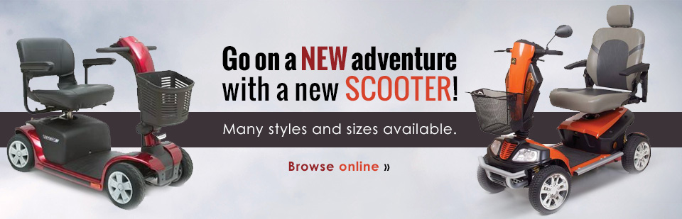 Go on a new adventure with a new scooter! Click here to browse our selection.