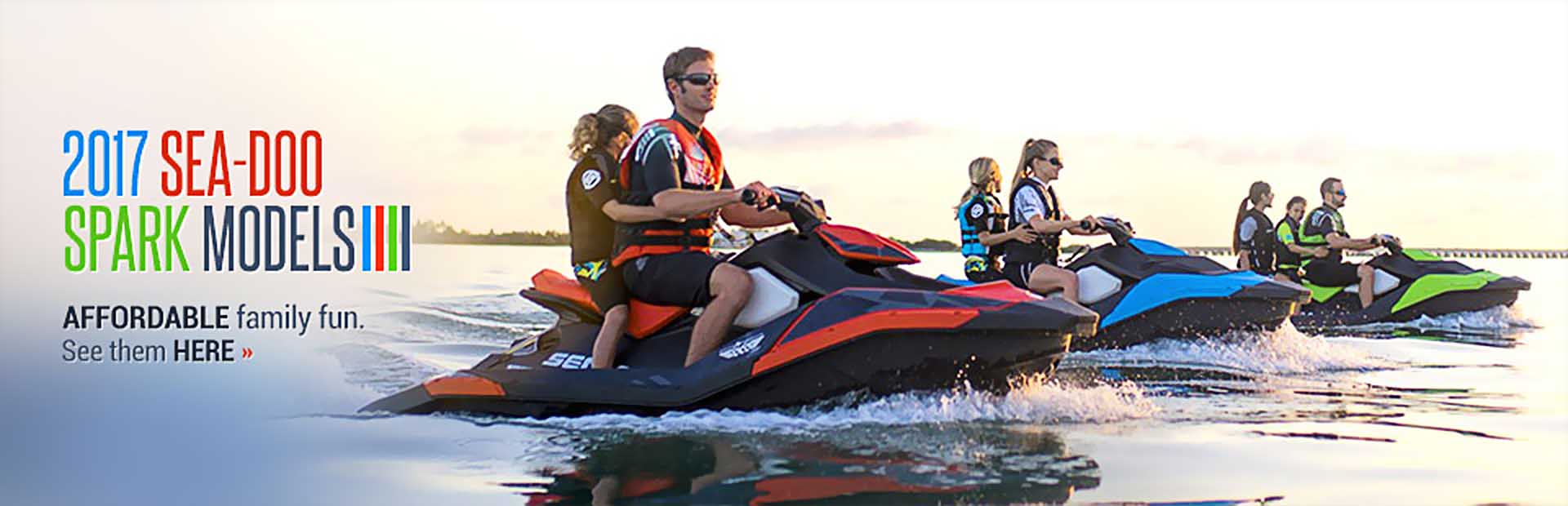 2017 Sea-Doo Spark Models: Click here to see the lineup.