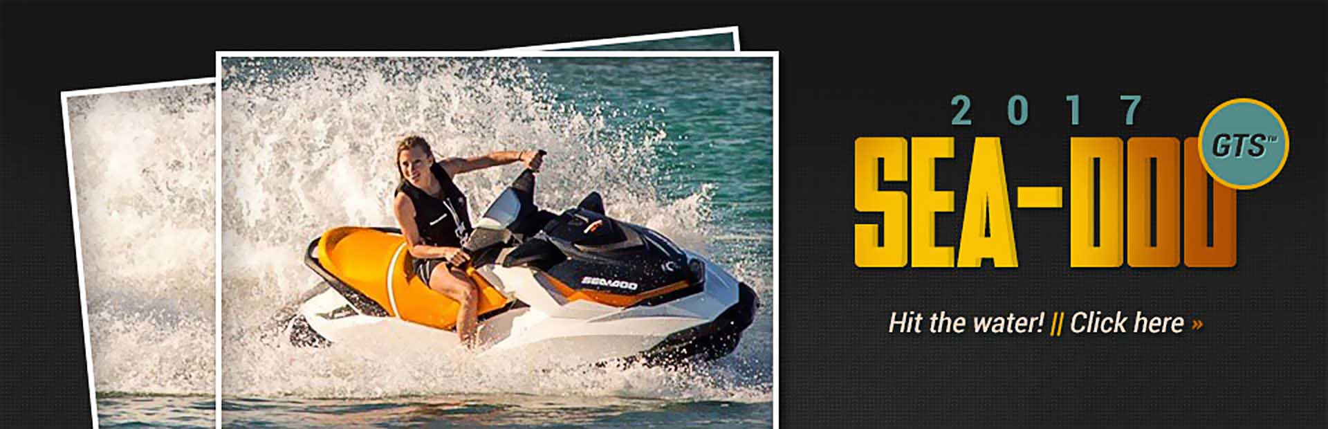 The 2017 Sea-Doo GTS™: Click here for details.
