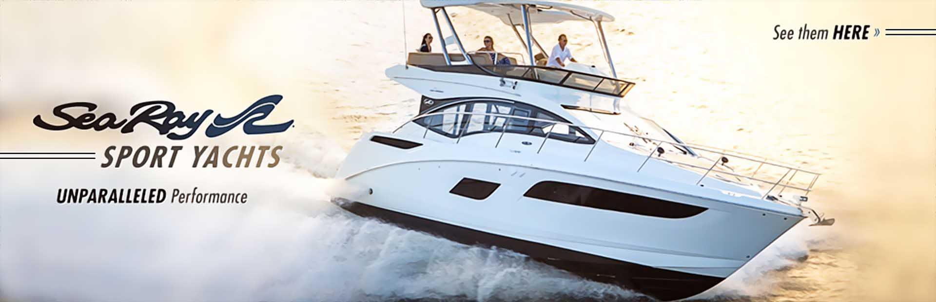 Sea Ray Sport Yachts: Click here to view the models.