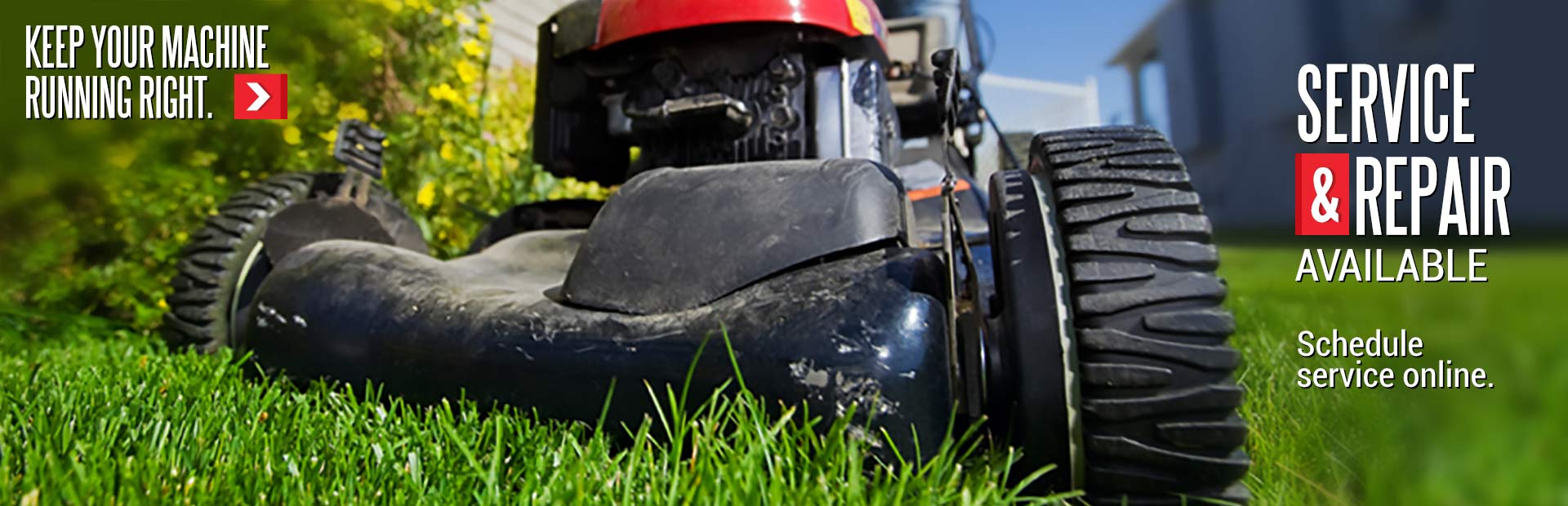 Mower and Handheld Equipment Service, Maintenance, and Repair Available: Schedule service online