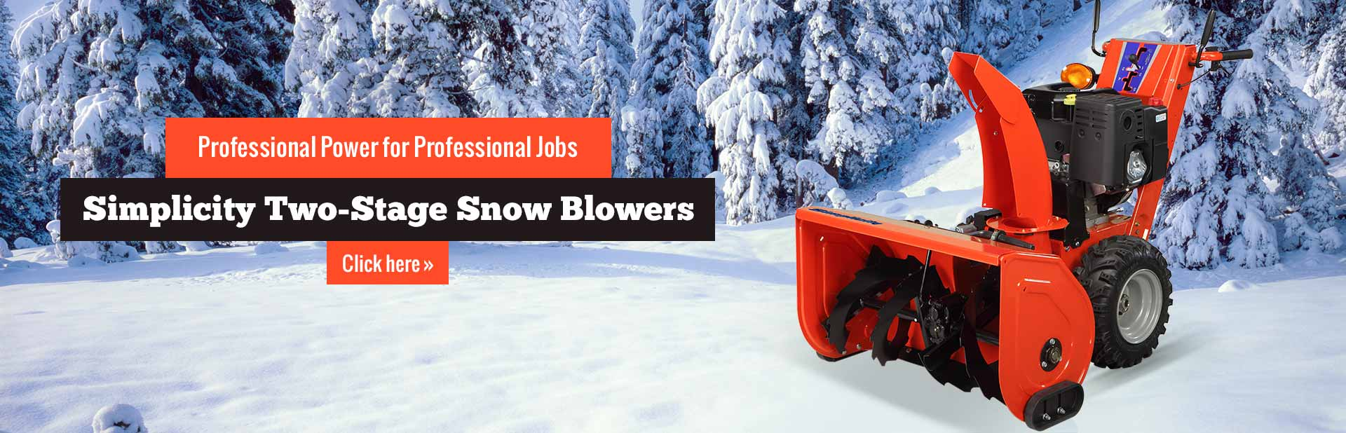 Simplicity two-stage snow blowers provide professional power for professional jobs! Click here to vi