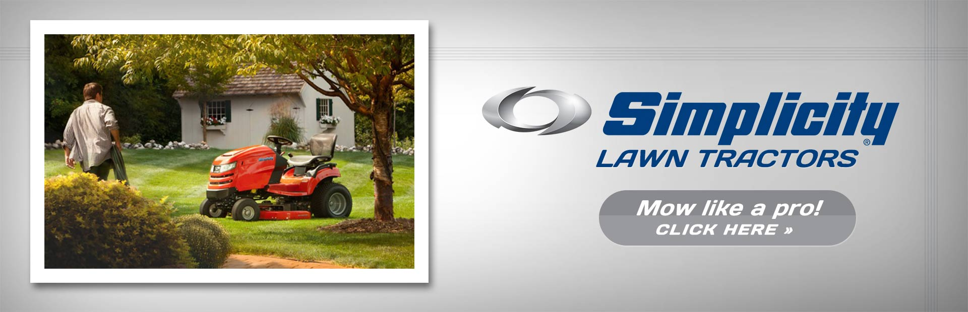 Mow like a pro with Simplicity lawn tractors! Click here to view our selection.