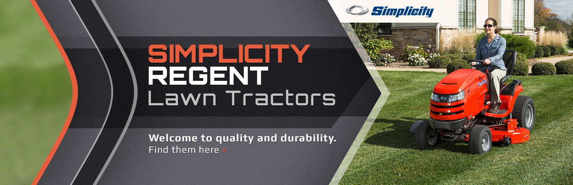 Click here to view our selection of Simplicity Regent lawn tractors!