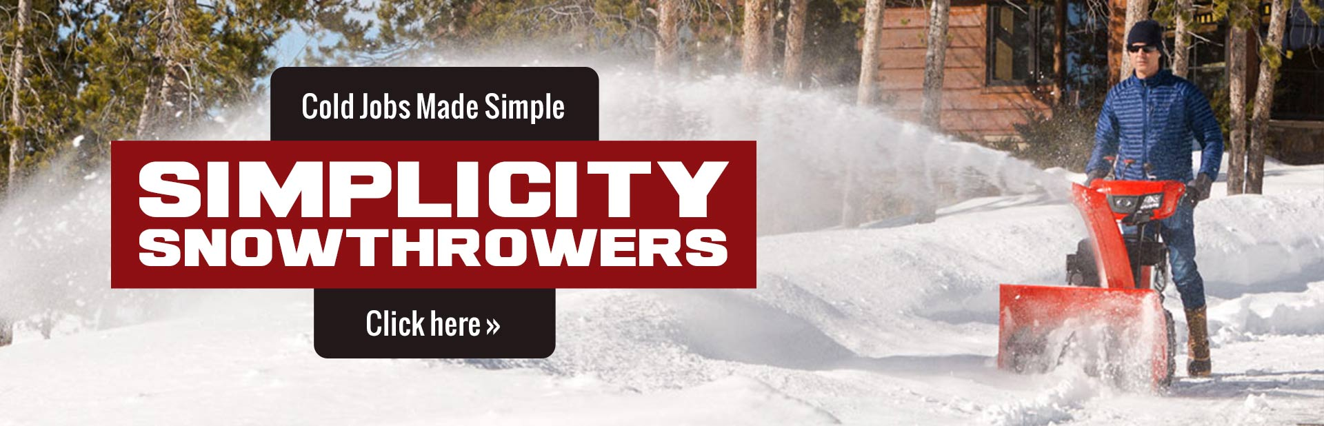 Click here to view our selection of Simplicity snowthrowers!