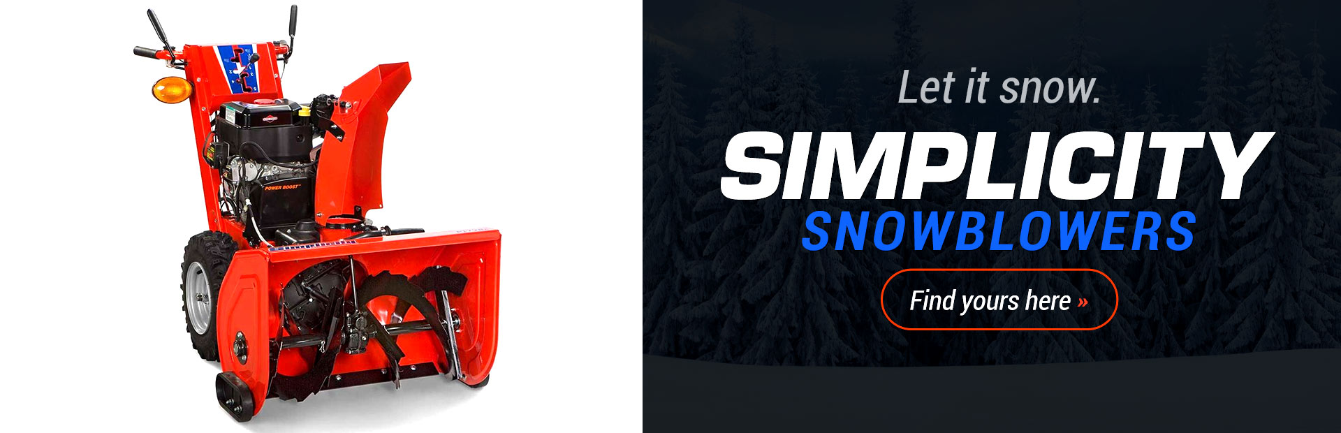 Simplicity Snowthrowers: Click here to view the models.