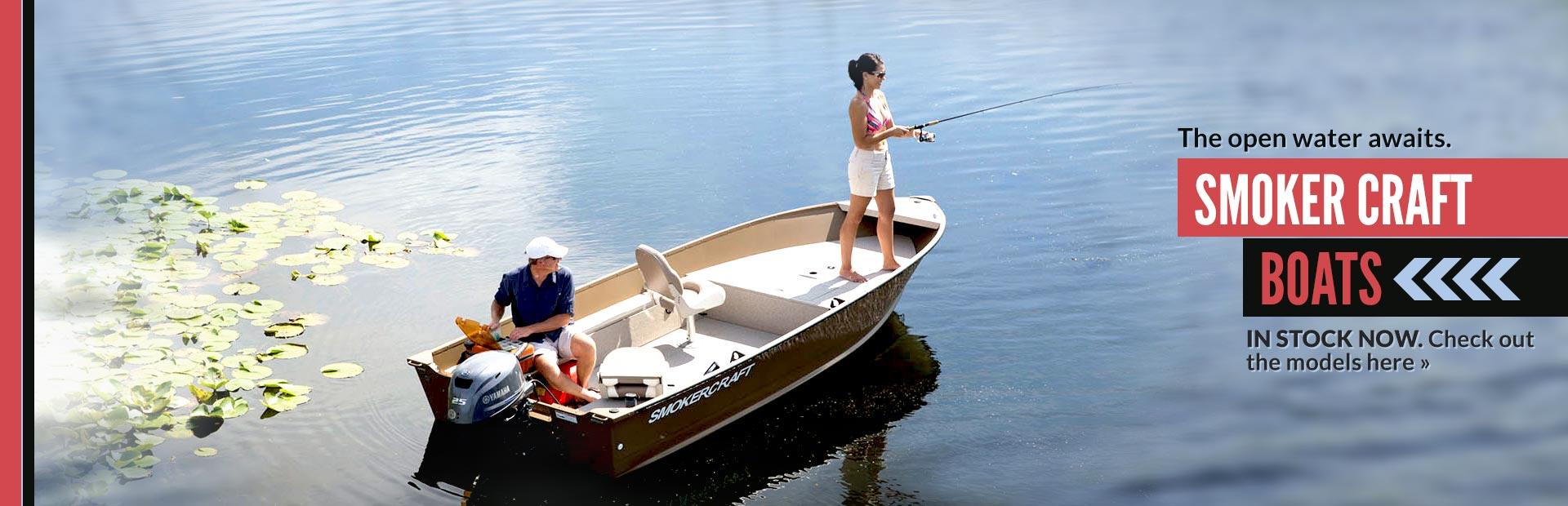 Click here to view our selection of Smoker Craft boats!