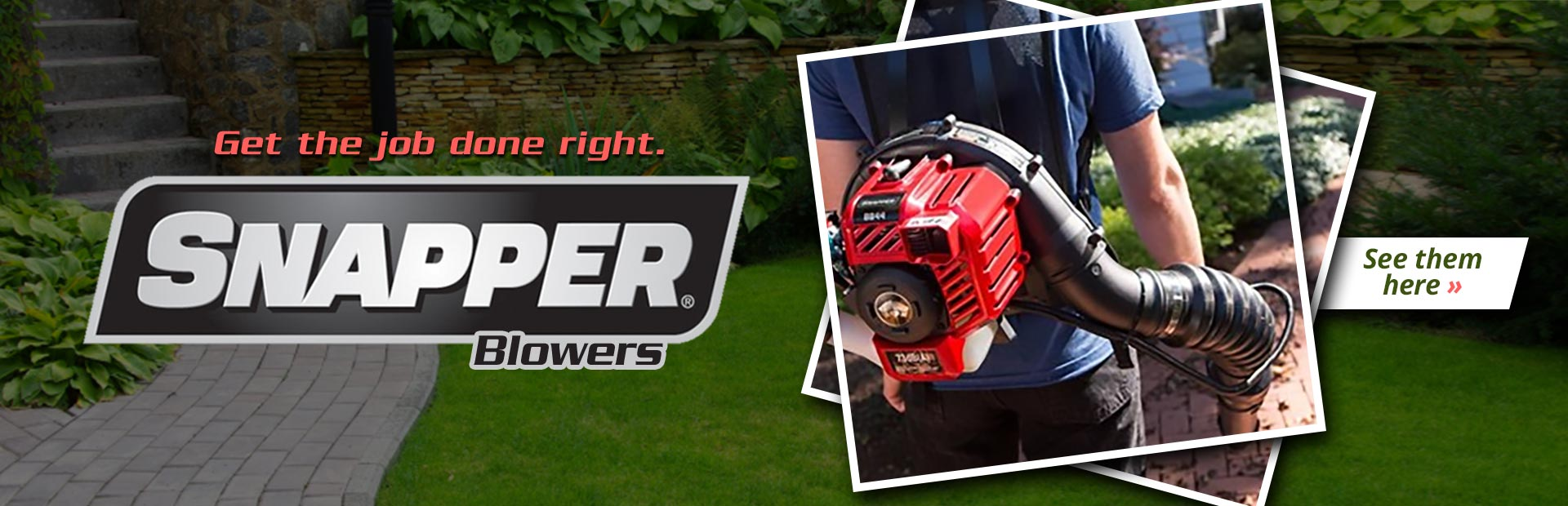 Snapper Blowers: Click here to view the models.