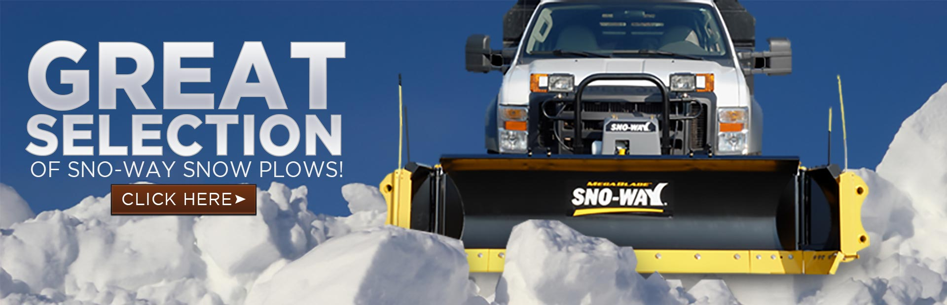 Click here to browse our great selection of Sno-Way snow plows.