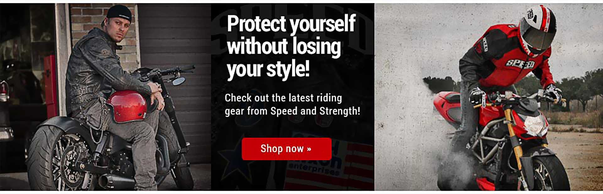 Browse Speed and Strength riding gear online.