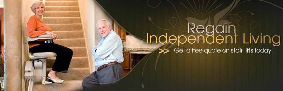 Regain your independent living! Call us to get a free quote on a stair lift today.