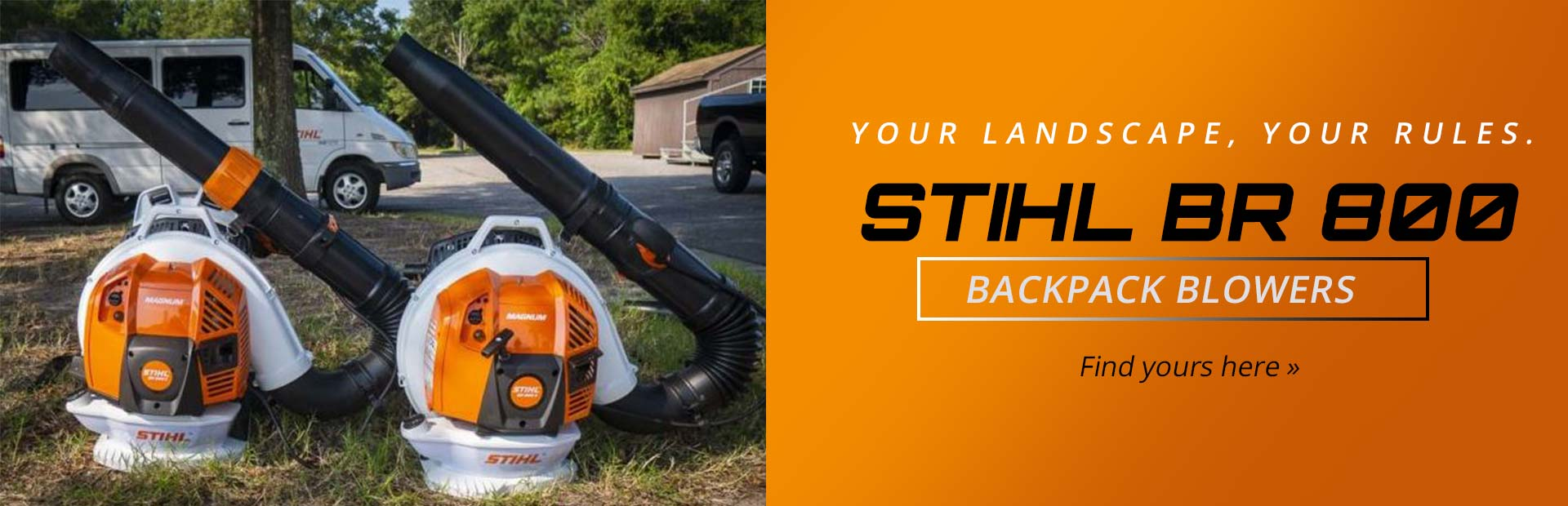 STIHL BR 800 Backpack Blowers: Click here to view the models.