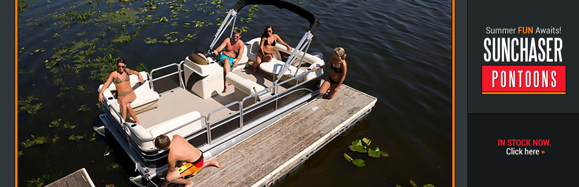 Click here to view our selection of SunChaser pontoons!