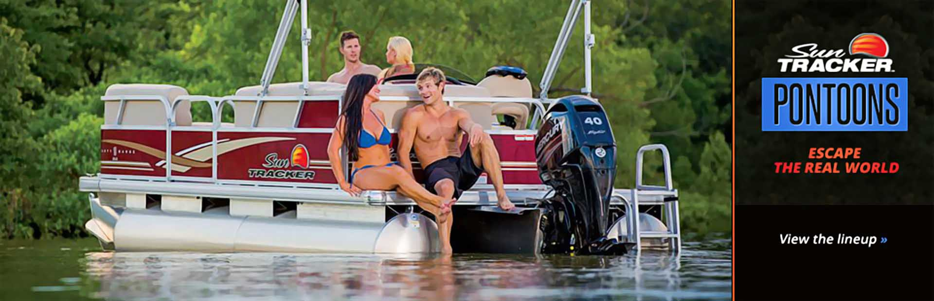 Sun Tracker Pontoons: Click here to view the models.