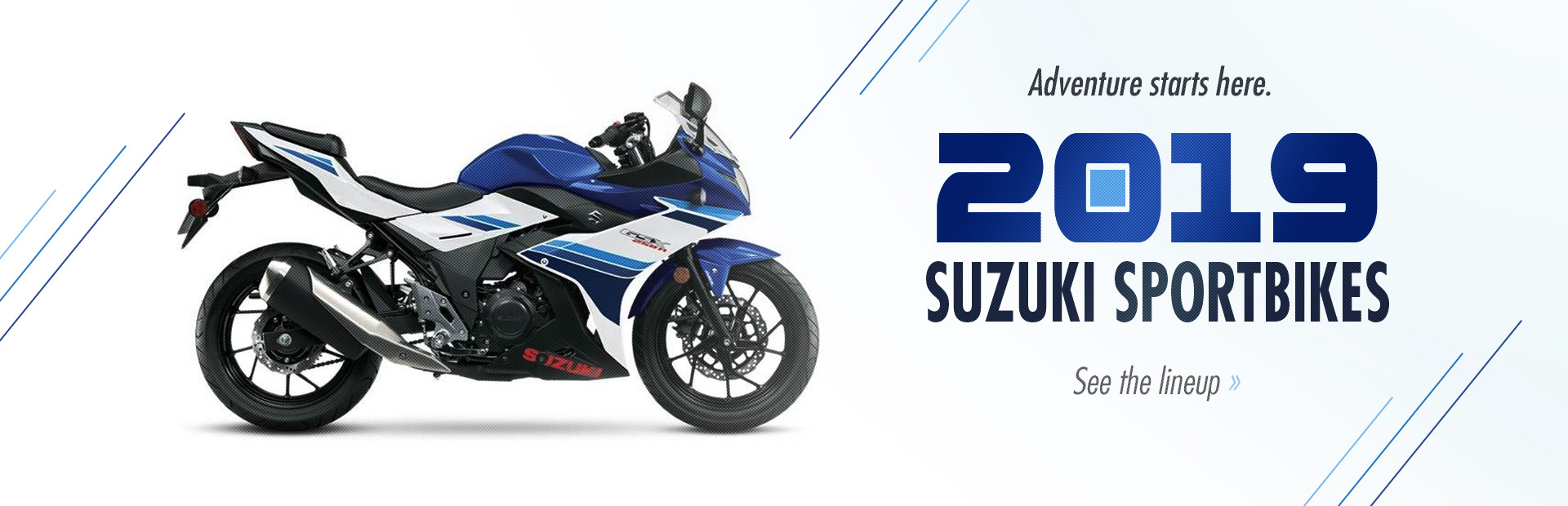 2019 Suzuki Sportbikes: Click here to view the models.