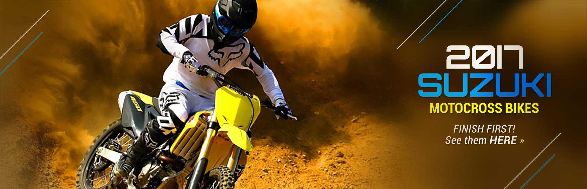 2017 Suzuki Motocross Bikes: Click here to view the models.
