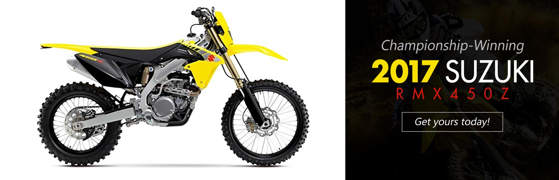 2017 Suzuki RMX450Z: Click here to view the model.