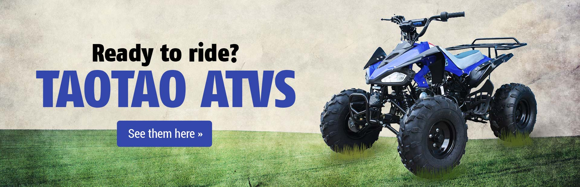 TAOTAO ATVs: Click here to view the models.