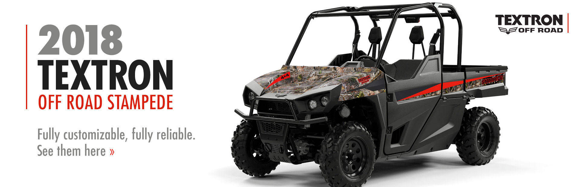 2018 Textron Off Road Stampede: Click here to view the models!