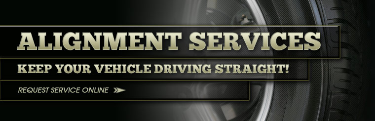 Keep your vehicle driving straight with an alignment! Click here to request service online.
