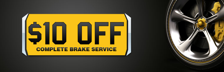 $10 Off Complete Brake Service: Click here for the coupon!