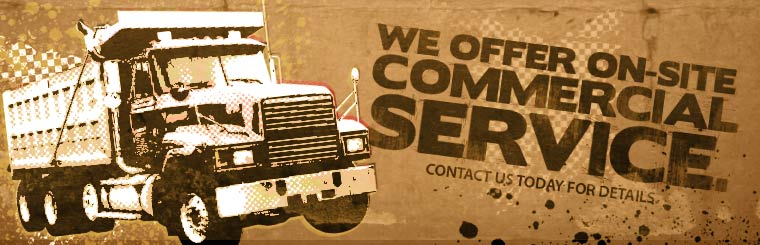 We offer on-site commercial service. Contact us today for details.