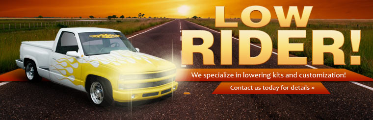 We specialize in lowering kits and customization. Click here to contact us for details.