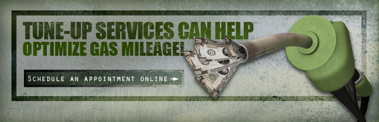 Tune-up services can help optimize gas mileage! Click here to schedule an appointment online.