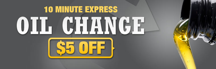 Get $5 off a 10 minute express oil change! Click here for the coupon.
