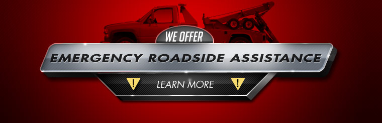 We offer emergency roadside assistance! Click here to learn more.