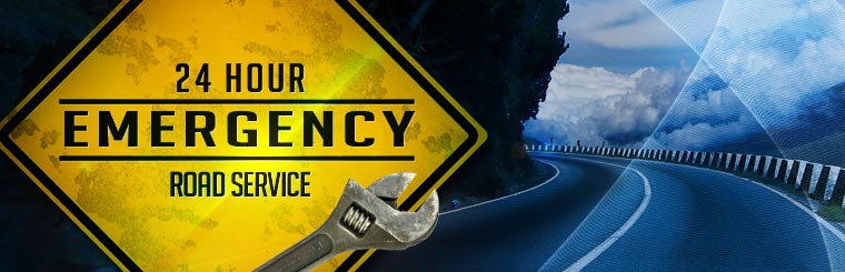 We offer 24-hour emergency roadside assistance! Click here to contact us.