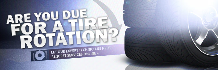 Are you due for a tire rotation? Let our expert technicians help! Click here to request service online.