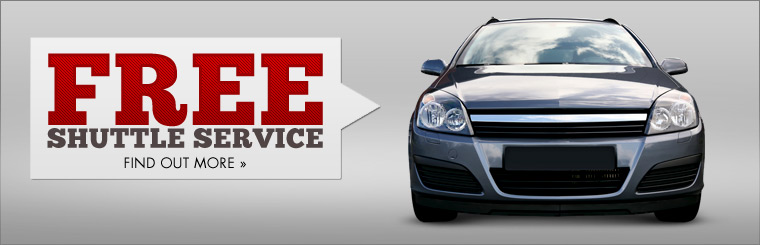 We offer free shuttle service! Click here to find out more.