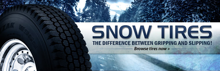 Click here to check out snow tires for your vehicle.