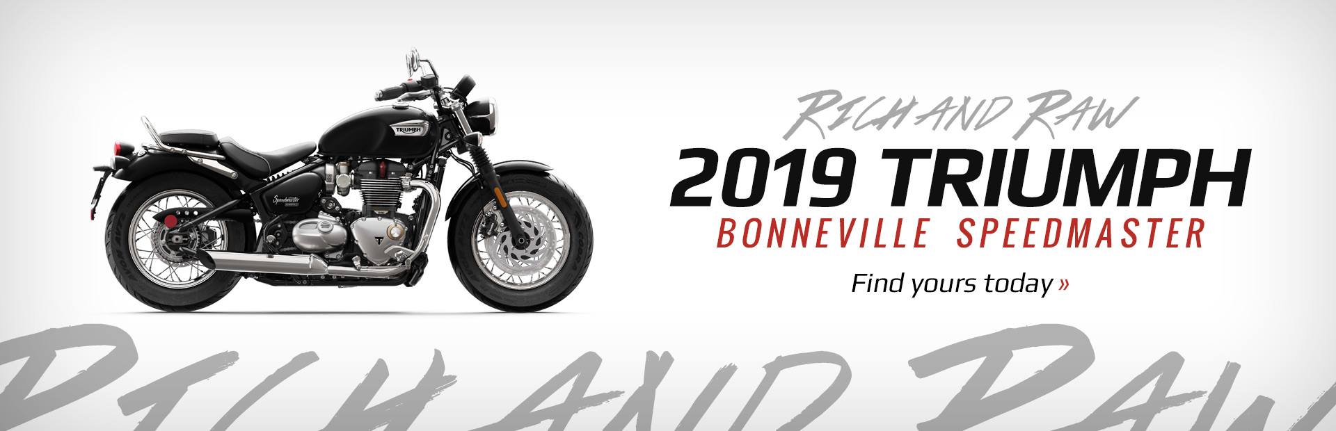 2019 Triumph Bonneville Speedmaster Models: Click here to view the lineup.